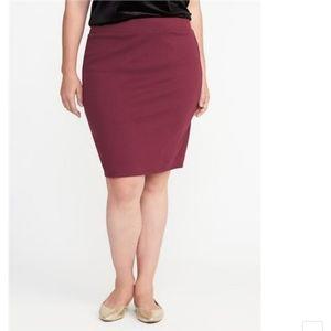 Old Navy - Ponte Stretch Pencil Skirt size XL